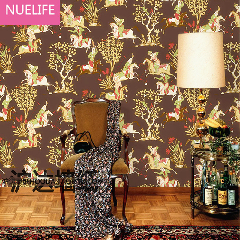 0.53x10m Personalized creative riding pattern wallpaper living room bedroom wedding room shop decoration wallpaper