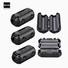 10 шт. Съемный зажим на RFI 5 мм кабель для передачи данных и аудио провода фильтр оснастки вокруг ферритовый черный пластик фильтры