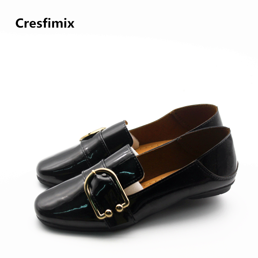 Cresfimix women fashion spring & summer slip on flat shoes lady casual street comfortable shoes zapatos de mujer cool shoes cresfimix zapatos de mujer women fashion pu leather slip on flat shoes female soft and comfortable black loafers lady shoes