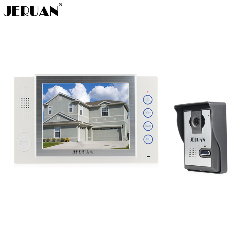 JERUAN 8 inch video door phone doorbell intercom system video recording photo taking video doorphone speaker intercom