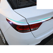 Lsrtw2017 Stainless Steel Car Trunk Tailgate Strip Trims for Kia K2 Rio 2017 2018 2019 2020 lsrtw2017 stainless steel car trunk trims for toyota camry 2018 2019 xv70