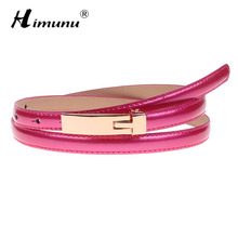 HIMUNU New Fashion Summer Style Painting Cowskin Leather Belt For Women Colors Choose Dress Belts Female