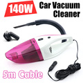 2015 New 140W Car vacuum Cleaner of Portable Handheld Wet & Dry Dual-use Super Suction 5meters DC 12V HEPA Filter Free Shipping