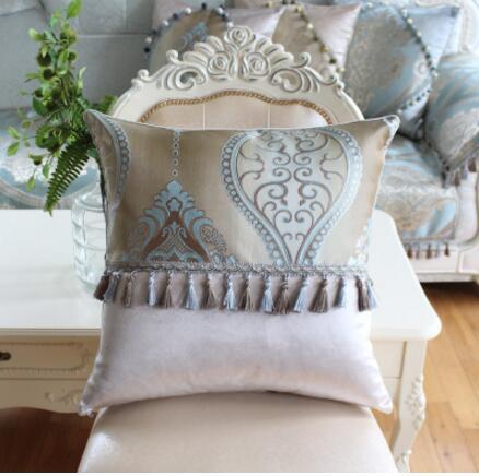 Роскошный Европейский Подушки Детские крышка полноценно кожа ткань диван Чехлы для подушек автомобиля лайнер Чехол офис Чехлы для подушек