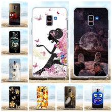 For Samsung Galaxy A8 Plus 2018 Case TPU A730F Cover Girl Pattern Coque