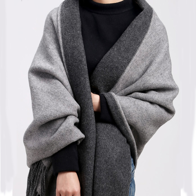 871c2f2b8a103 Detail Feedback Questions about 100% Pure Cashmere Scarf for Women Winter  Scarf Luxury Brand 2018 Cashmere Warm Shawls and Wraps for Women Pashmina  Poncho ...
