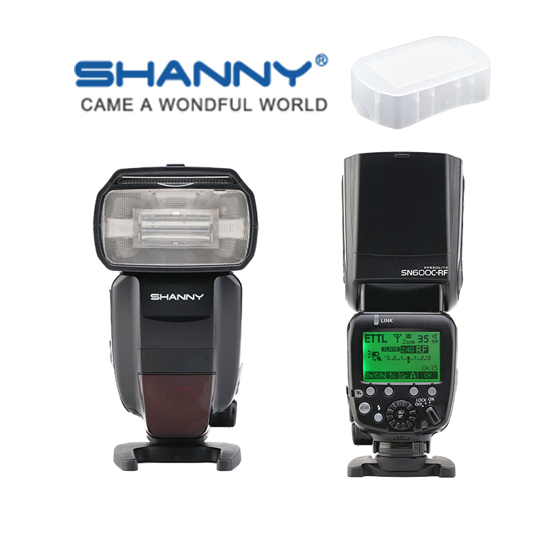 SHANNY SN600C-RF intégré 2.4G Radio sans fil TTL esclave Flash HSS 1/8000 s pour appareil photo reflex numérique Canon