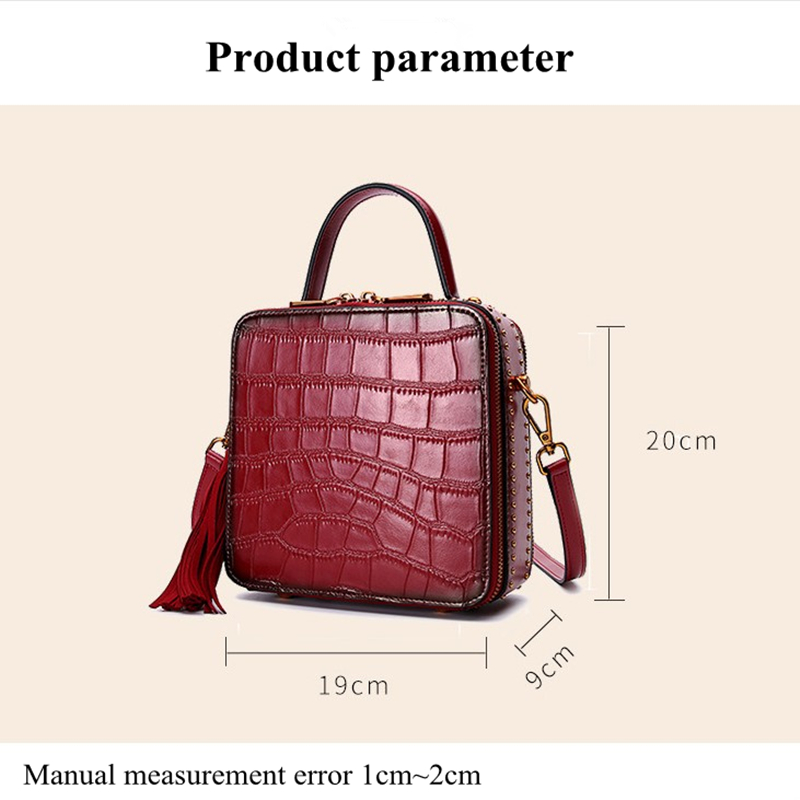 Véritable Red Mini Carré Mzorange Brown Petit Main En Messenger Rétro Poignet Femelle Portable Paquet brown apricot dark Cuir À Sacs pink light Green light Décontracté Sac Bandoulière wine white Green Black xnOOwfqI