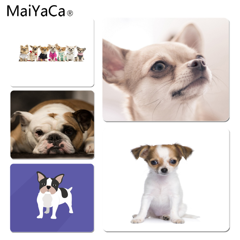 MaiYaCa Hot Sales Chihuahua Laptop Computer Mousepad Size for 180x220x2mm and 250x290x2mm Rubber Mousemats