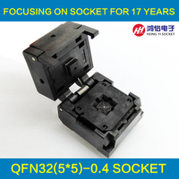 QFN32 MLF32 Burn In Socket IC Test Socket IC549 0324 006 G Pitch 0 4mm Clamshell