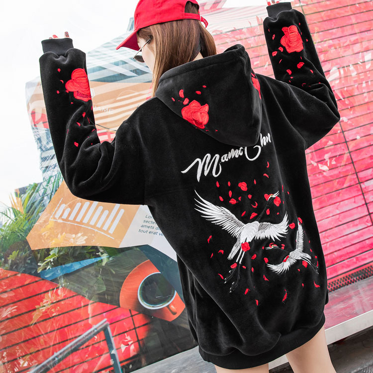 New New Valentine 39 s Day Women Hoodies Rose Hoodie Gothic Clothes Women Clothing Harajuku Sweatshirt Plus Size in Hoodies amp Sweatshirts from Women 39 s Clothing