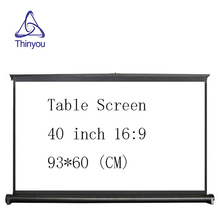 Thinyou Projector Screen 40 inch 16:9 Portable Matte White Projection Hanging Table Screen For Office Business Meeting Training