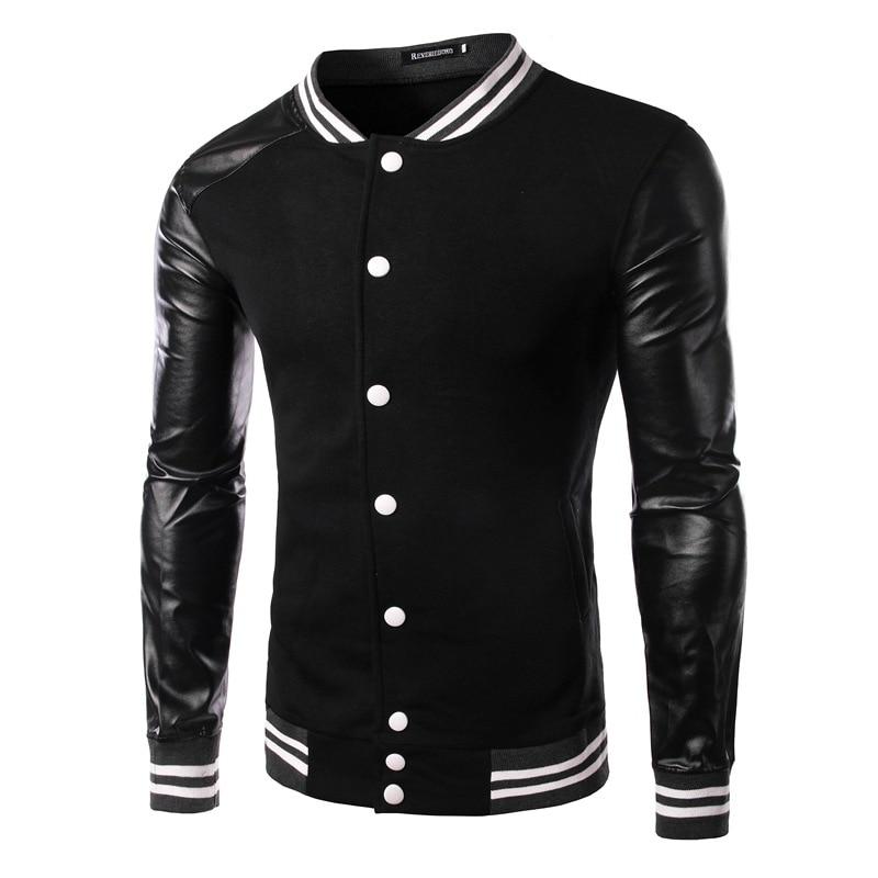 Popular Baseball Jacket Leather-Buy Cheap Baseball Jacket Leather ...