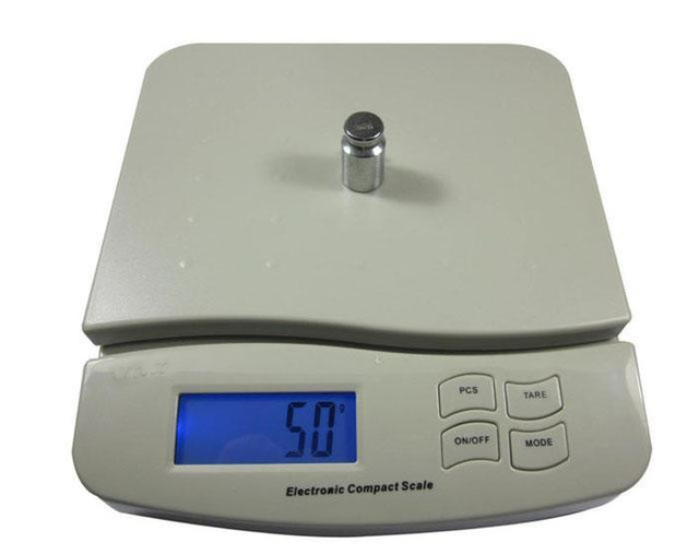 Digital 25kg 55lb Parcel Letter Postal Weighing Scales Commercial Kitchen Free Shipping