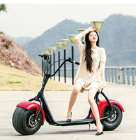 Chinese Harley Scooter Citycoco Fat Tire Electric Scooter Vespa Moped 1000W