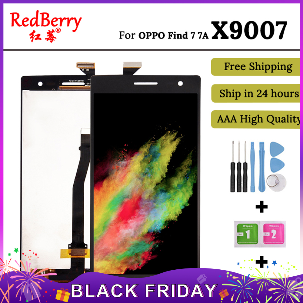 Redberry For OPPO Find 7 7A X9007 X9006 LCD Display Touch Screen Mobile Phone Lcds Digitizer Assembly Replacement Parts+tools