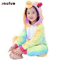 Saufuo Pyjamas Flannel Unisex Adult Pajamas Unicorn Pajama Adults Cute For Couple Pyjama Adult Sully
