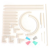 Convenient Multifunctional 5000-100 Knitting Board Knit and Weave Loom Craft Yarn Kit DIY Scarf Sweater Tools