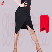 NEW ARRIVAL Milk Silk Latin Dance Skirt Women Latin Irregular Skirt Latin Dance Short Skirt S