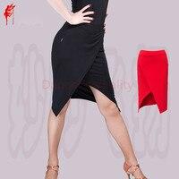 NEW ARRIVAL Milk Silk Latin Dance Skirt Women Latin Irregular Skirt Latin Dance Short Skirt S