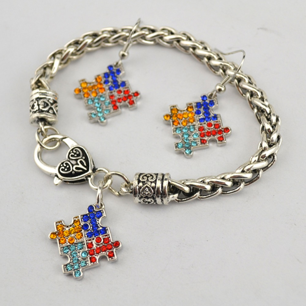 stretch puzzle com awarenessdepot autismawarenesspuzzlepiecestretchbracelet autism awareness piece bracelet