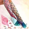 Fashion Women Mermaid Socks Knee High Socks Summer Beach Stockings Cosplay Socks