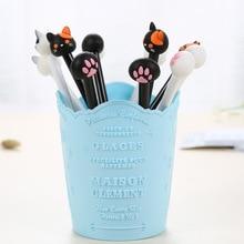 40 pçs criativo bonito gato garra caneta gel caneta cabeça de agulha cheia 0.38mm caneta preta estudante papelaria