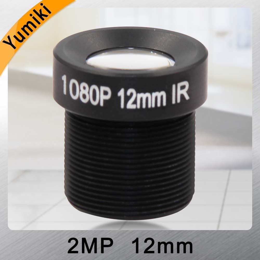 Yumiki CCTV Lens F2.0 M12*0.5 12mm 25degree CCTV Camera Board Lens For 1/3