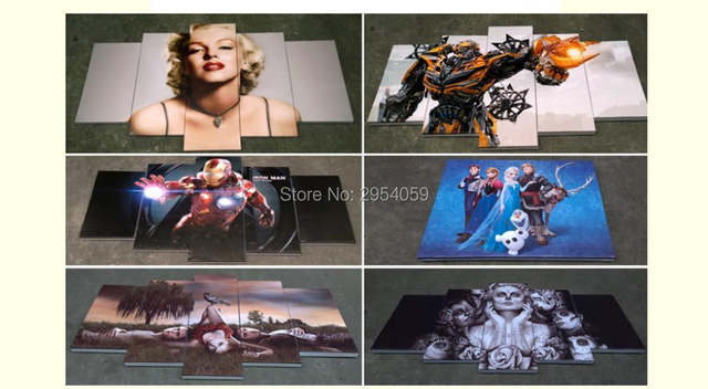 US $56 99 | 6693 halo reach emile character game gun Poster print on canvas  framed home deco gallery wrap art print home canvas decor-in Painting &