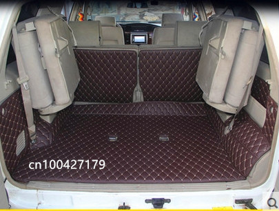 Good quality! Special trunk mats for Nissan Patrol Y61 7 seats 2010-1997 waterproof cargo liner mats boot carpets,Free shipping