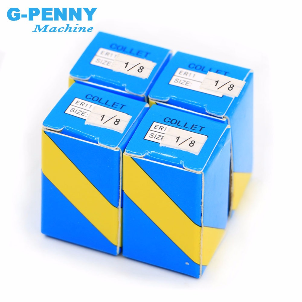 Free Shipping !! ER 11 Collet Chuck  4 Pcs 1/8 3.175mm Tool Holder For CNC Spindle Motor  On CNC Milling Machine