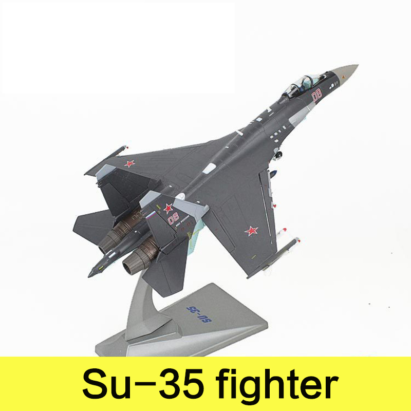 цена на Military Alloy Airplane Model Su-35 Fighter Russia Federation Second World War Classical Flighter Diecast Scale Model Toys 1:72