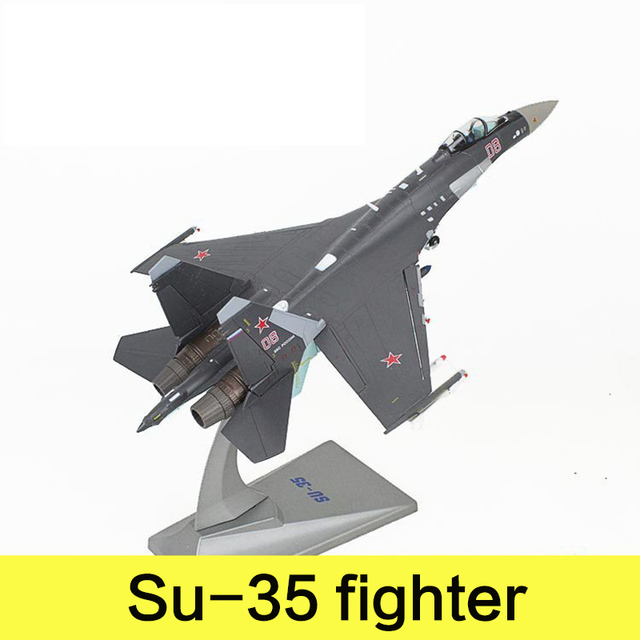 Military Alloy Airplane Model Su-35 Fighter Russia Federation Second World War Classical Flighter Diecast Scale Model Toys 1:72