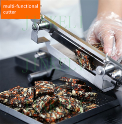 free ship Mutton,medicinal herbs,Ham,Fruits and vegetables slicer machine; Nougat, Ejiao cake, Cookies ect strip cutter machine