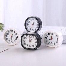 1 шт. креативный персональный минималистичный прикроватный столик Часы Будильник детская спальня мини простой маленький будильник