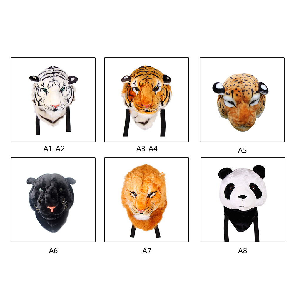 2018 New Fashion Direct Sale Personality Tiger Head Backpack White Yellow Lion Head Pack Shoulder Bag Structural Disabilities