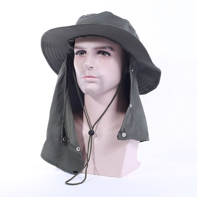 Surblue bucket Hats Women Men green Breathable Adjustable Male caps Summer  Sun hat Sun Protection neck for work fisherman hats eb5d2fb3cf5