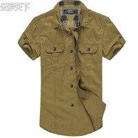 Бесплатная доставка плюс размер марка XXXL 4xl 6xl 8xl 10xl повседневная рубашка лето стиль мужчины военные одежда slim fit с коротким рукавом рубашки