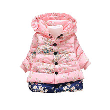 Girls Jackets Children Clothing Baby girl Fashion Printed Cotton Outerwear Baby Hooded Coat Tops Kids Winter Warm Jacket clothes yb3184598585 2018 baby outerwear girls winter jackets girls jacket animal girl coat worm girl outerwear fashion