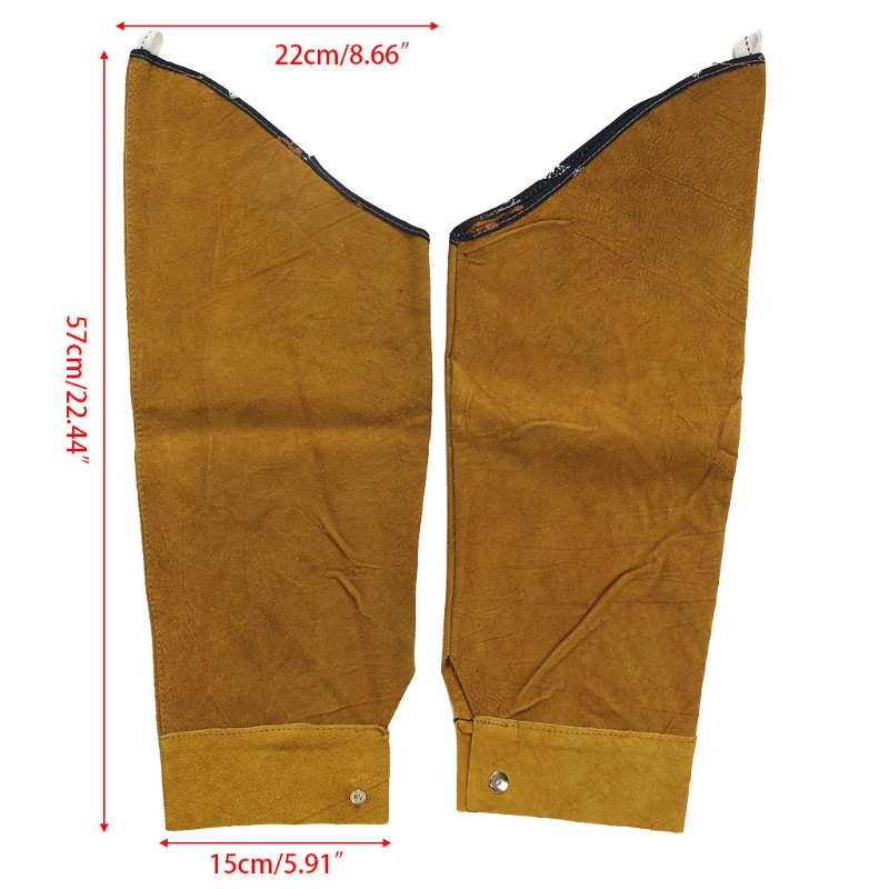 Image 2 - Free Shipping Split Leather Heat Resistant Welding Sleeves Protective Armband for Welding Tool-in Safety Clothing from Security & Protection