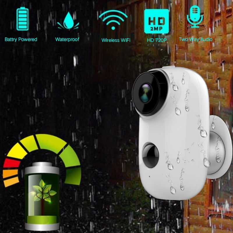 SDETER 100% Sans fil Rechargeable Batterie IP Caméra Wifi 720 p Intérieur Extérieur Résistant Aux Intempéries IP65 CCTV Caméra De Sécurité Large vue