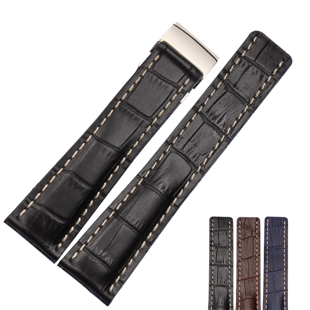 NESUN NP29 Free Shipping 22 mm/24 mm Calfskin Leather Watch Band Suitable For Men's Breitling SUPEROCEAN Watches 2016 fashion gray flock winter long boots elegant women shoes square low heel over the knee boots women boot size 34 43 concise page 4