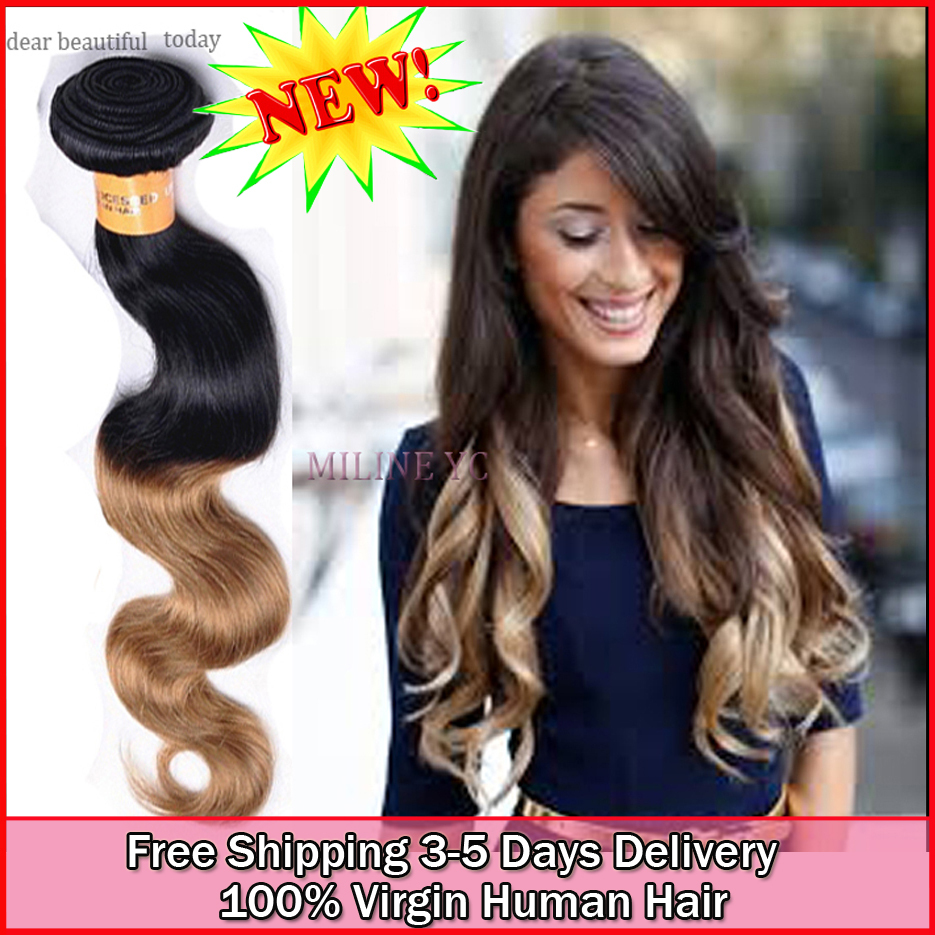 wholesale virgin human indian ombre natural body wave hair