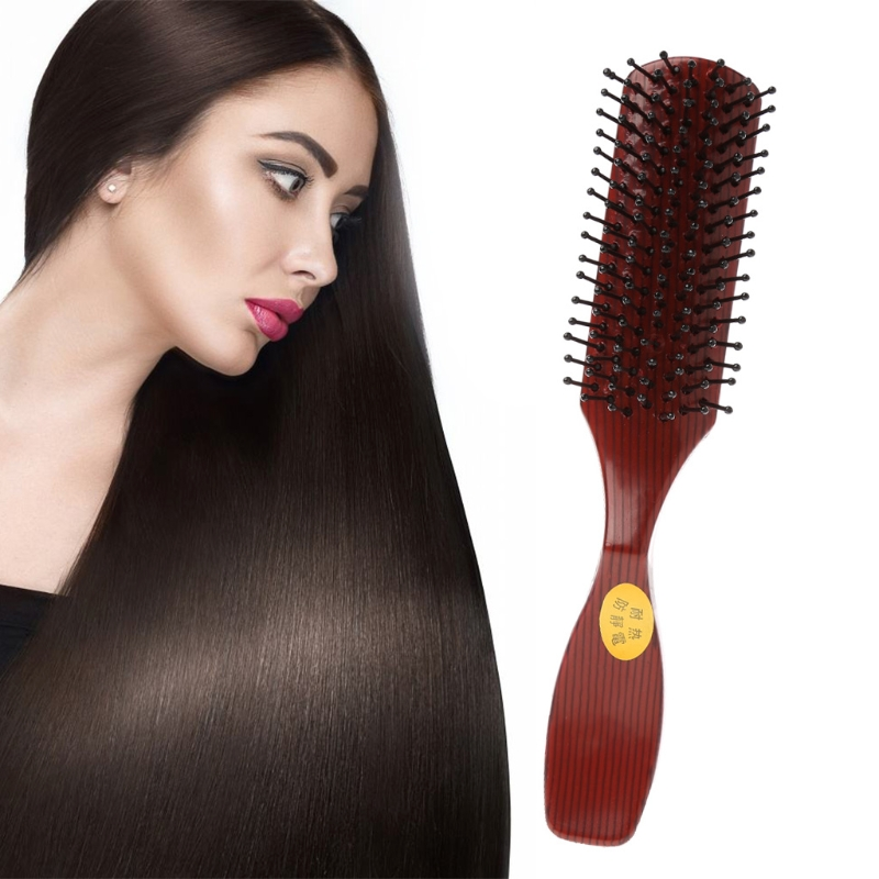 Pro Plastic Hair Brush Vented Comb For Salon Home Use Hairdressing Beauty Tool