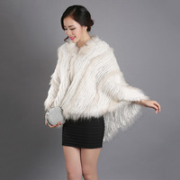 2018 fashion warm autumn winter women genuine rabbit fur poncho big size with hoody big size femme scarves and shawls real fur