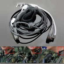 Anti-Noise Handsfree Finger PTT Throat Control Acoustic Tube Earphone for Baofeng Kenwood UV5R Walkie Talkie Accessories