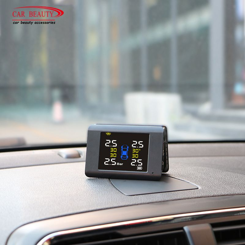 Folding Wireless Tire Pressure Monitoring Alarm System TPMS for Hyundai For KIA Universal Digital Solar Powered