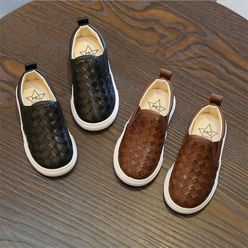 Baby Leather Panel Shoes Children's Shoes 2019 Spring New 1-6 Years Old Children's Casual Shoes Boys And Girls Slip Wear Shoes