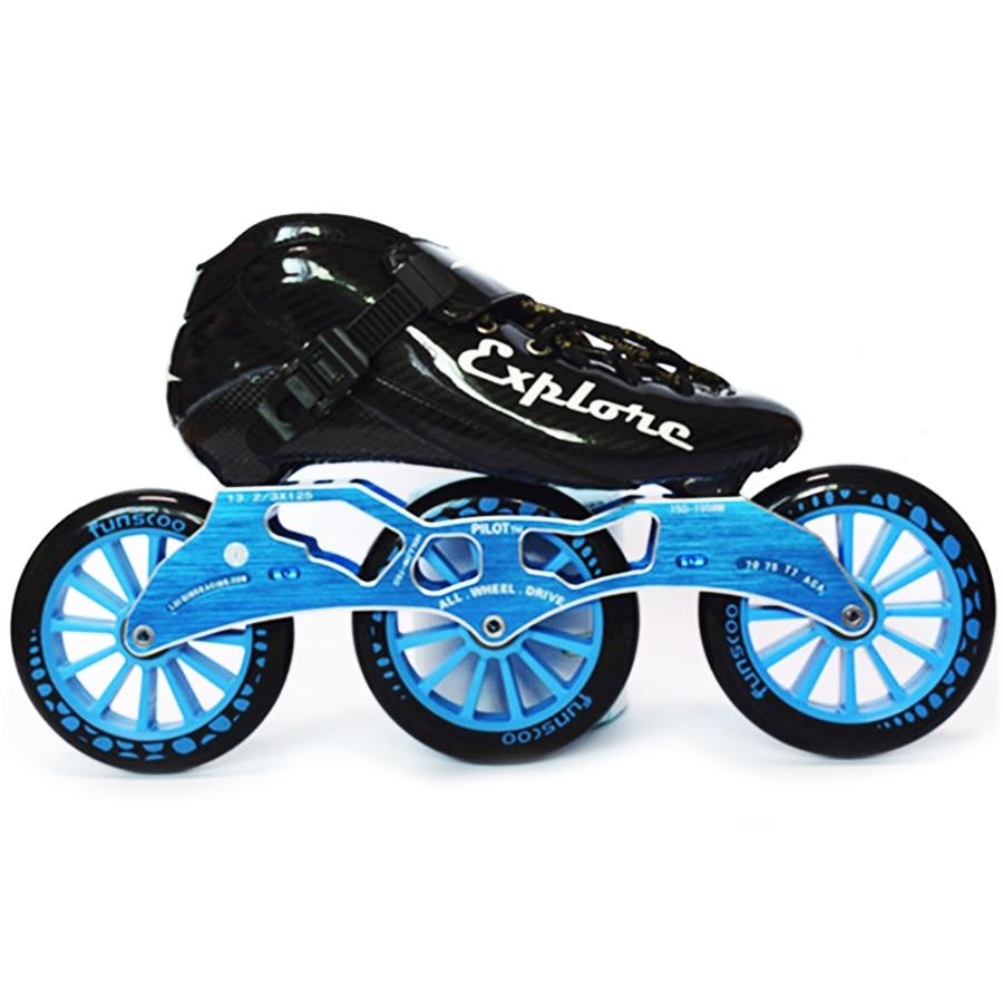 Patins à roues alignées de vitesse ISPORTS patin de compétition en Fiber de carbone 3*125mm Patines de patinage de rue pour enfants adultes SH56