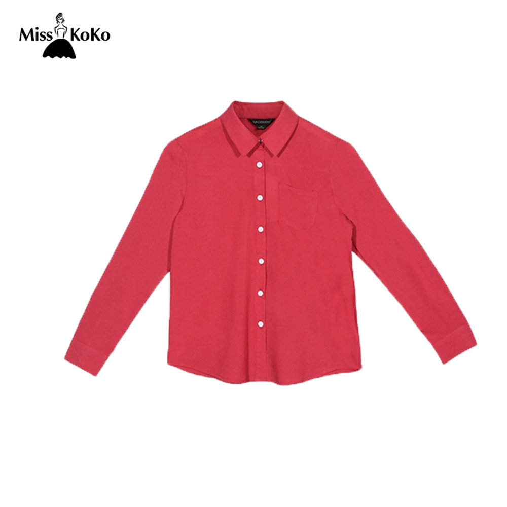 MissKoKo Long Sleeve Split Stripe Women Shirt Sexy Deep V neck Short Chiffon Blouses Casual Front
